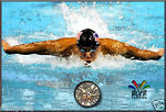 Michael Phelps Swimming for Gold Olympic Poster Print 2012 London Summer Games