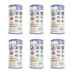 Intex Swimming Pool Easy Set Type A Replacement Filter Pump Cartridge 6 Pack