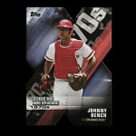 Johnny Bench 2020 Topps Die Cut Defensive Win Above Replacement Reds