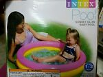 Intex Brand Sunset Glow Inflatable Baby Swimming Round Pool Fun Sun Ages 1 3