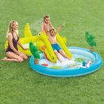 Gatorland Kid Inflatable Swimming Pool with Water Slide & Sprayer FREE 1-3 Day📦