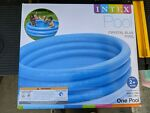 INTEX Crystal Blue Kids Round Outdoor Inflatable 66quot; x 15quot;Swimming Pool 58446EP