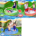Kids Inflatable Pool 48quot;x10quot; Red Green Blue Outdoor Swimming Play Pool Children