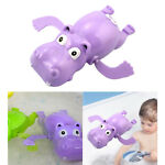 Classic Funny Wind Up Hippo Swimming Play in Water Floats Bath Toys for Kids