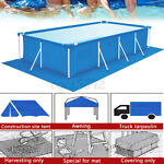 Portable Ground Cloth Tarp Round Above Swimming Pool Mat Outdoor 2.3x3.3M
