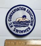 Kentucky Conservation Education Swimmer Swimming Round White Embroidered Patch