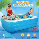 120quot;x72quot; Inflatable Swimming Pool Summer Lounge Family Kids Water Play Fun Pool