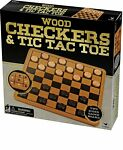 Wood Checkers Board Game Gift Kids Adults Family Fun Games 5 Year Up