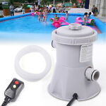 Electric Swimming Pool Water Cleaning Tool Above Ground Pool Filter Pump 20W US
