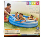 Intex Crystal Blue Pool 58quot; X 13quot; Round Kids Inflatable Swimming Play Pool