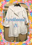 Pre owned White Beach Swim Cover Up With Hoodie WESTBOUND 2X Great Cond FREE SHP