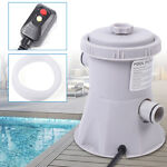 Above Ground Pool Electric Swimming Filter Pump Pool Water Cleaning System HOT