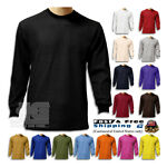 Men Heavy Weight Plain Thermal Long Sleeve New Waffle Shirts Solid Colors
