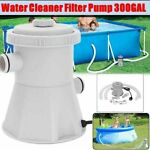 Electric Swimming Pool Filter Pump Powerful Water Cleaning System Above 300GAL