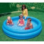 INTEX Crystal Blue Kids Outdoor Inflatable 66quot; x 15quot;Swimming Pool 58446EP