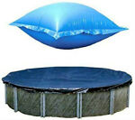 24 Ft Round Above Ground Winter Pool Cover w 4#x27;x8#x27; Closing Air Pillow