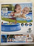 Intex Swimming Pool 10#x27; x 30quot; Easy Set Above Ground Inflatable Family w o Pump