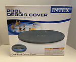 Intex 12#x27; Swimming Pool Debris Round Cover 28022E Easy Set With Rope Tie NEW