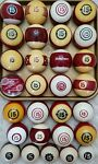 #15 Pool Ball FROM $7 SHIPPED1500 VINTAGE ANTIQUE BILLIARD BALLS Clay Aramith