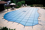 Custom Swimming Pool Winter Safety Cover Quote and Sample Materials Mesh