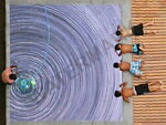 88082 Best Pool in the Galaxy Glitch Decor LAMINATED POSTER CA