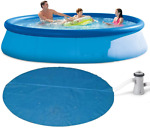 Intex Easy Set Up Above Ground Swimming Pool+Filter Pump+Solar Cover