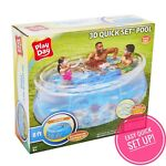 Play Day 8 X 30 Transparent Quick Set Swimming Pool 3D Interior Printing Goggles