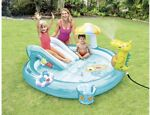 INTEX Gator Play Center Kids Inflatable Swimming Pool Water Slide -FAST SHIPP