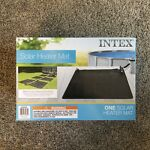 Intex Solar Mat Above Ground Swimming Pool Water Heater - Black  28685E