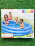 INTEX Crystal Blue Kids Round Outdoor Inflatable 66quot; x 15quot; Swimming Pool NEW