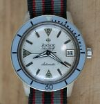 Zodiac Sea Wolf Steel Date Silver Dial Mens 35mm Automatic Vintage Serviced