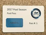 Swimming Pool Pass - 100 cards