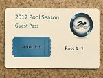 Swimming Pool Pass - Guest - 100 Cards