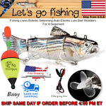 Fishing Lures Robotic Swimming Auto Electric Lure Bait Wobblers For 4 Segment