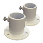 Aluminum Deck Flanges for Above Ground Pool Ladder 2-Piece Rugged Cast Aluminu