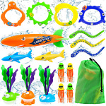 Diving Pool Toys Teens Adults Underwater Swimming Games Storage Bag Outdoor 34Pc