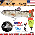 Fishing Lures Robotic Swimming Auto Electric Lure Bait Wobblers For 4 Segement