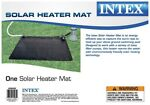 Intex SOLAR HEATING MAT🌞 Above Ground Swimming Pool Water Heater Black  28685E