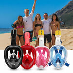 Full Face Masks Swimming Underwater Diving Snorkel Scuba fits for GoPro Camera