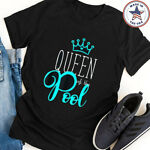 Swimmer T Shirt Queen of the Pool Swimming Quote Girl Woman Cotton Unisex