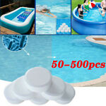 50 500 Chlorine Tablets Multifunction Instant Disinfection For Swimming Pool Tub
