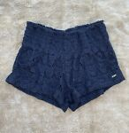 Roxy Swim Cover Up Shorts Size Small Elastic Band Small Pockets