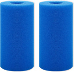 2PCS Pool Filter Cartridge Swimming Filter for Intex Type A Sponge Washable
