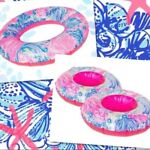 Lilly Pulitzen Small Pool Inflatable Drink Floaties Set of 5 NEW