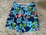 Hollister Swim Trunks Blue Floral Tropical Small Swimming Beach Boating