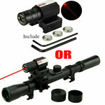 4x20 Rifle Optics Scope Tactical Crossbow Riflescope with Red Dot Laser Sight US