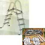 INTEX Above Ground Swimming Pool Ladder Steel Frame 4 Resin Steps up to 48quot; Deep