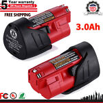 2 Pack For MILWAUKEE M12 48 11 2401 12 Volt 2.5Ah Lithium Ion Battery 48 11 2420