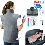 Electric Heat Therapy Pad Back Neck Shoulder Pain Relif Heating Blanket Washable