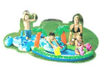 WATERFALL~SWIM PARK~INFLATABLE POOL~KID~PLAY CENTER~SLIP SLIDE SPLASH~COCO HIPPO